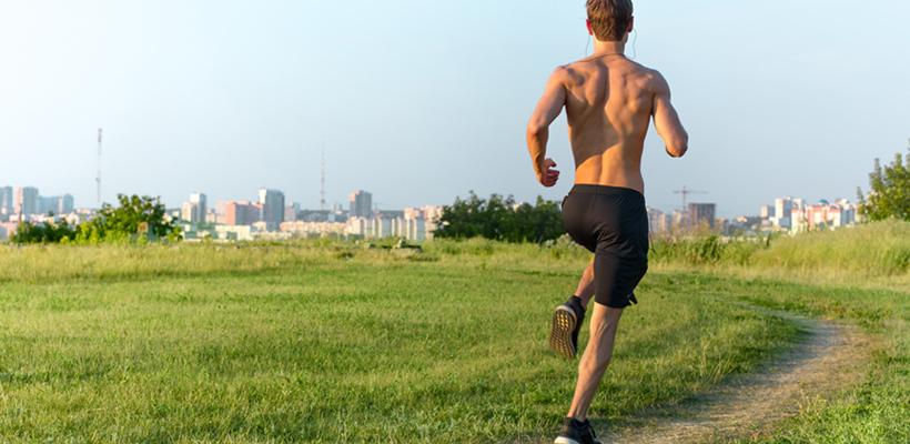 man running cardio