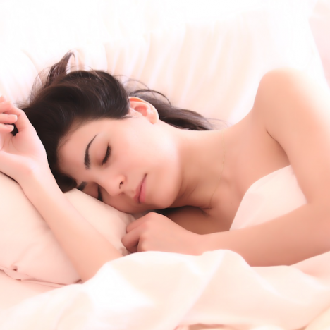Woman Sleeping with Progesterone