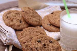 crispy paleo diet chocolate chip cookies
