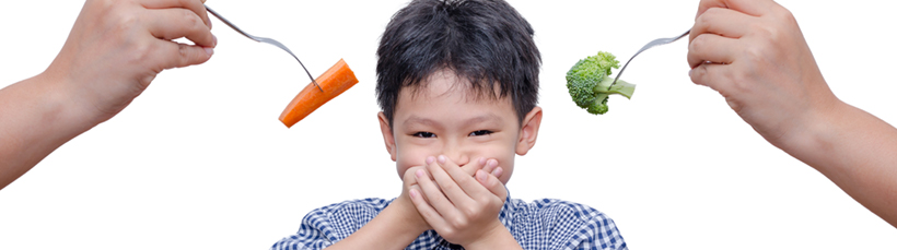 kid refusing vegetable